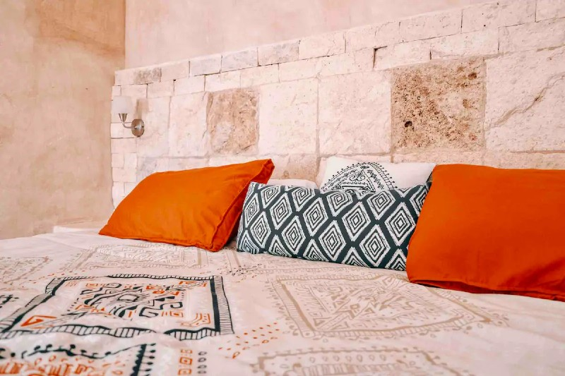 Casita Maya Loft bedroom — where to stay in Tulum