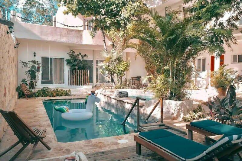 Casita Maya Loft pool — where to stay in Tulum