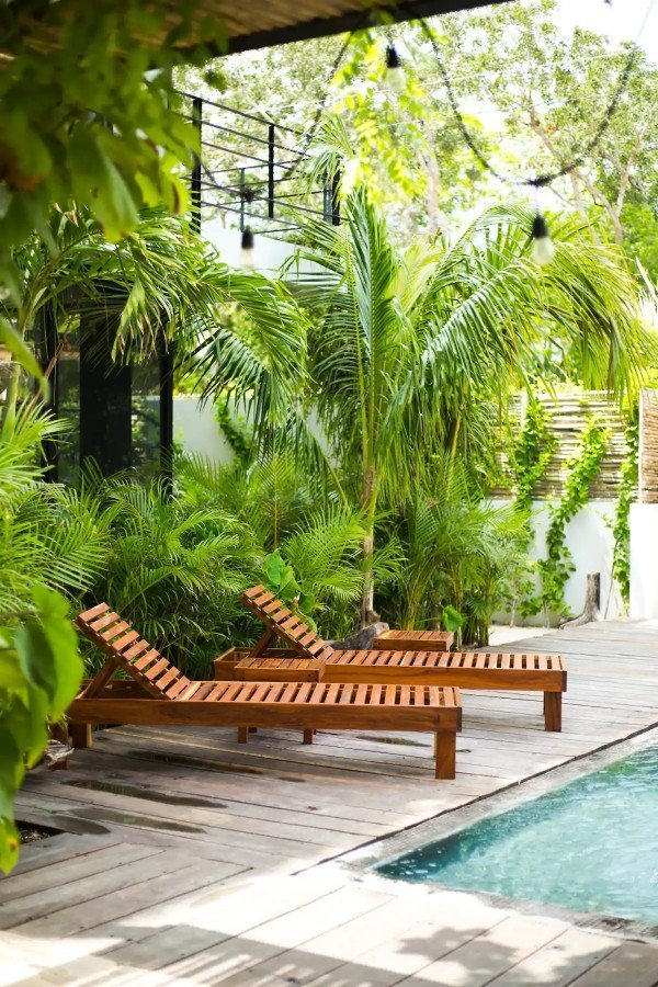 Exquisite ground floor apartment loungers — where to stay in Tulum