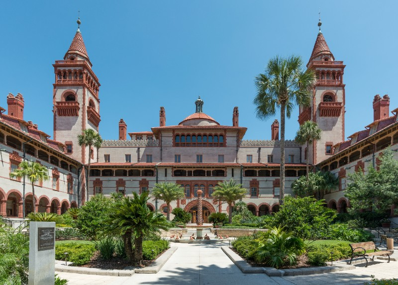 Flagler College Ponce de Leon St Augustine - warm places to visit in February in USA