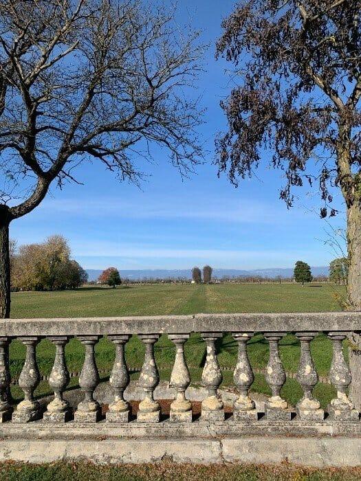 Garden and stone wall Villa Contarini - Piazzola sul Brenta