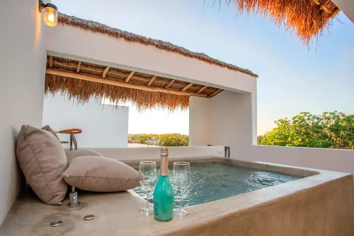LIA New Penthouse plunge pool — where to stay in Tulum