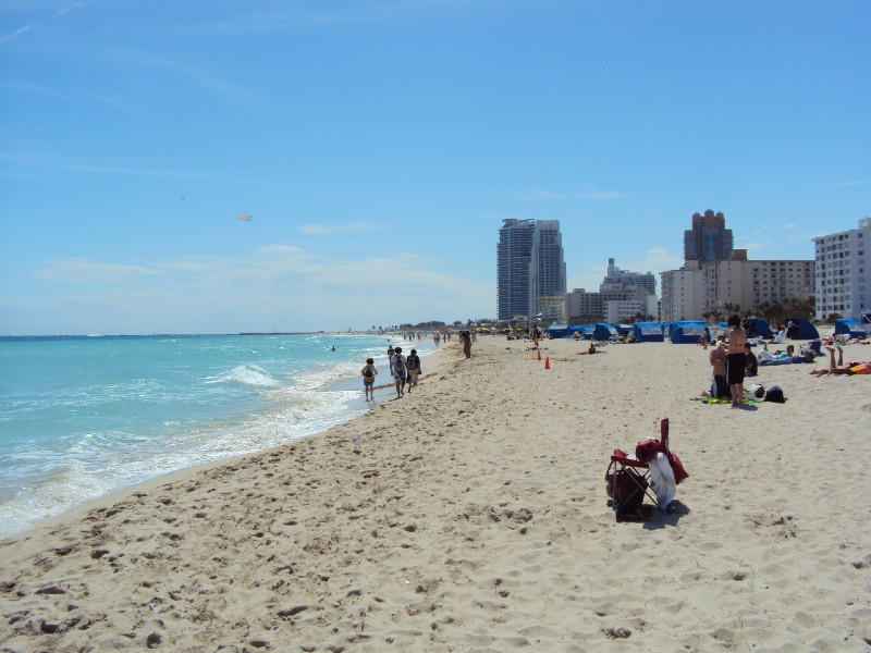 Miami South Beach - warm places to visit in February in USA