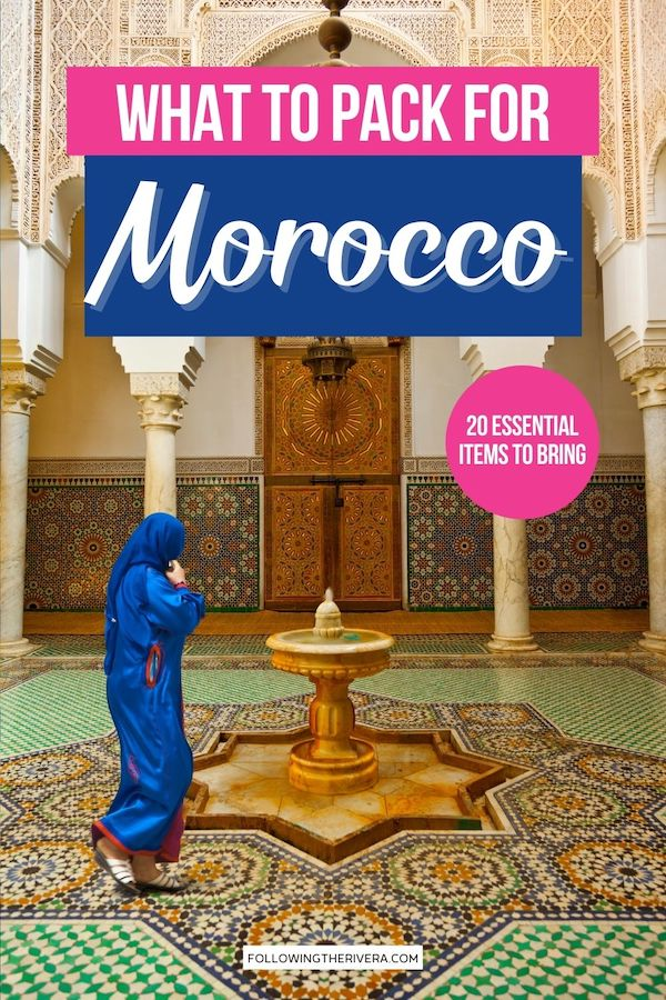Woman in traditional dress - what to pack for Morocco