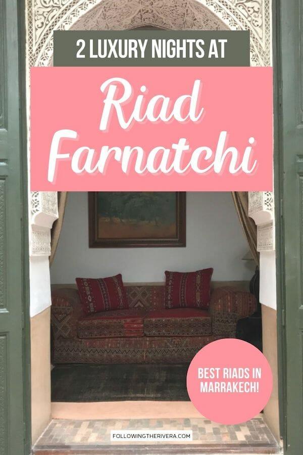 Riad Farnatchi lounge