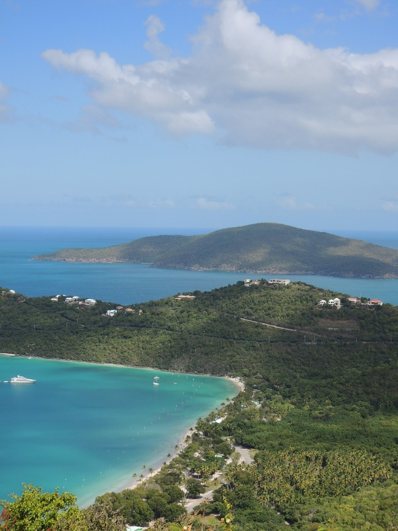 St Thomas - warm places to visit in February in USA