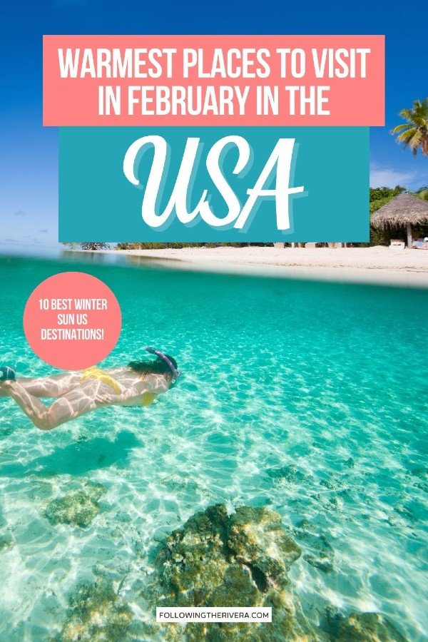 Hawaii - warm places to visit in February in US
